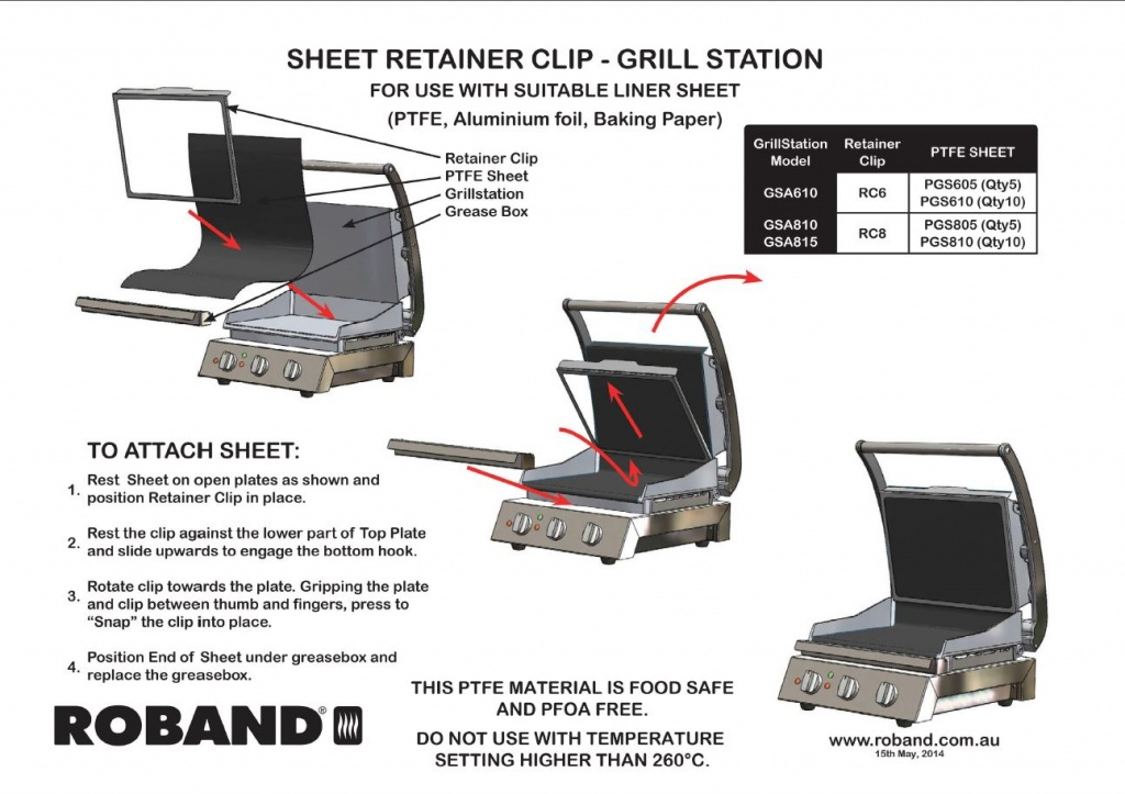 HOW TO ATTACH SHEET RETAINER CLIP FOR ROBAND GRILL STATION