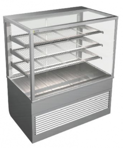 Cossiga Tower Series Refrigerated Square Display Cabinet System 1200 - BTGRF12