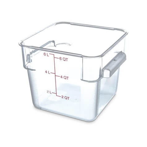 StorPlus™ Polycarbonate Square Food Storage Container 6 Litre - Clear - 1072207
