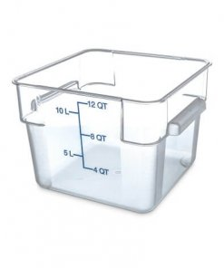 StorPlus™ Polycarbonate Square Food Square Container 11 Litre - Clear - 1072407