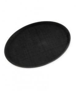 "GripLite® Round Tray 14-5/8"" - Black - 1400GL004"