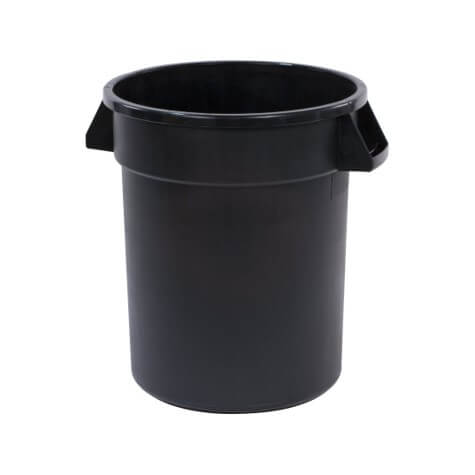 Bronco™ Round Waste Bin Trash Container 75 Litre - Black - 34102003
