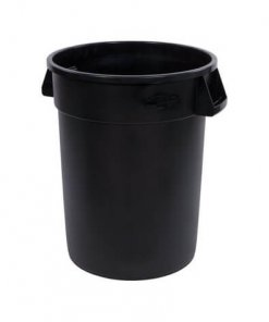 Bronco™ Round Waste Bin Trash Container 121 Litre - Black - 34103203