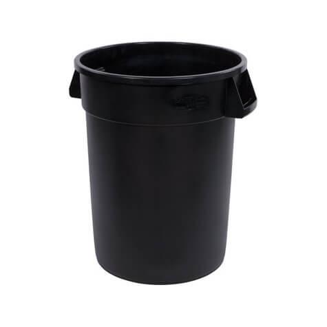 Bronco™ Round Waste Bin Trash Container 121 Litre - Black - 34103203