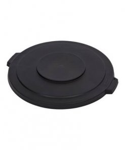 Bronco™ Round Waste Bin Trash Container Lid 121 Litre - Black - 34103303