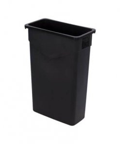 TrimLine™ Rectangle Waste Container Trash Can 87 Litre - Black - 34202303