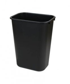 Rectangle Office Wastebasket Trash Can 26 Litre - Black - 34292803