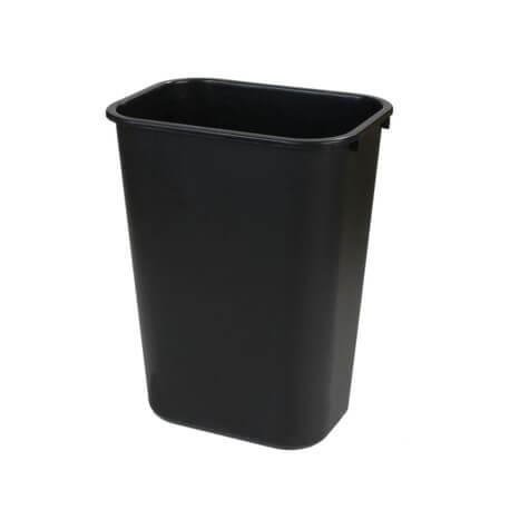Rectangle Office Wastebasket Trash Can 26 Litre - Black - 34292803
