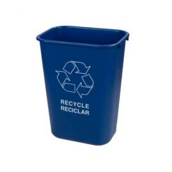 Rectangle RECYCLE Wastebasket 39 Litre - Blue