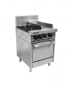 RCR6-2-3G Trueheat RC Series 2 Burner Gas with 300mm griddle Oven Range