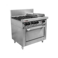 RCR9-2-6G Trueheat RC Series 2 Burner Gas with 600mm griddle Oven Range