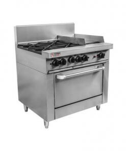 RCR9-4-3G Trueheat RC Series 4 Burner Gas with 300mm griddle Oven Range